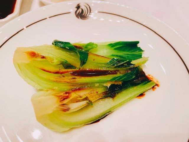 ザ・ペニンシュラ ブレックファスト:青菜の炒め物