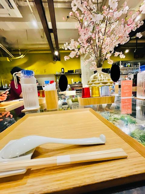 「Japanese Ramen Noodle Lab Q」店内の様子
