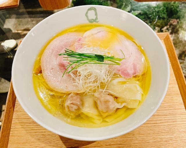 「Japanese Ramen Noodle Lab Q」塩わんたん麺