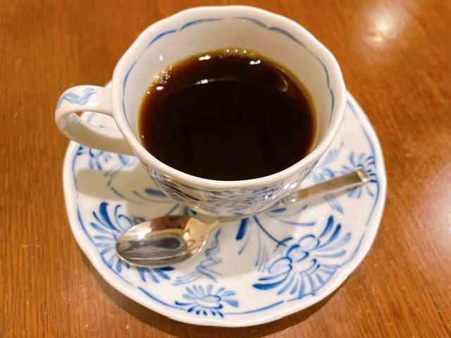 「さえら」セットのホットコーヒー