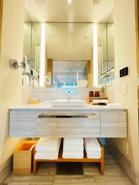「ザ・プリンスギャラリー東京紀尾井町」クラブデラックスツインの洗面台