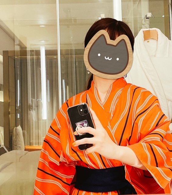 「ザ・プリンスギャラリー東京紀尾井町」浴衣に着替えての部屋飲み