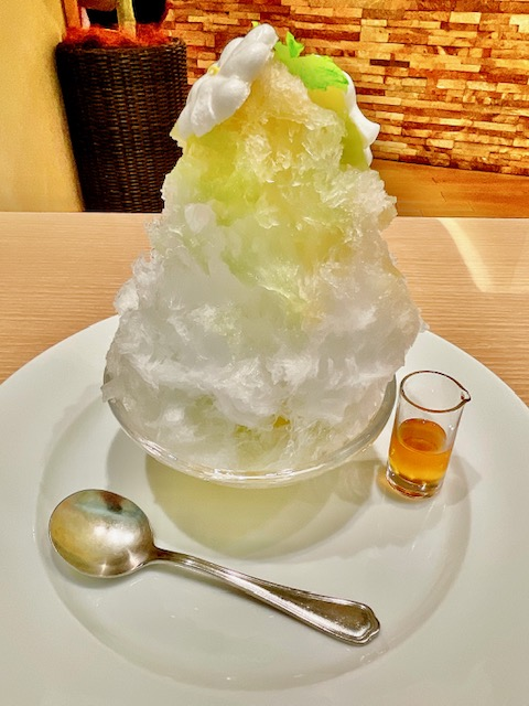 「ル・シエール」カモミール×ミントのかき氷