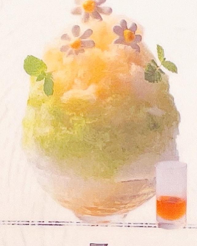 「ル・シエール」カモミール×ミントのかき氷の見本写真