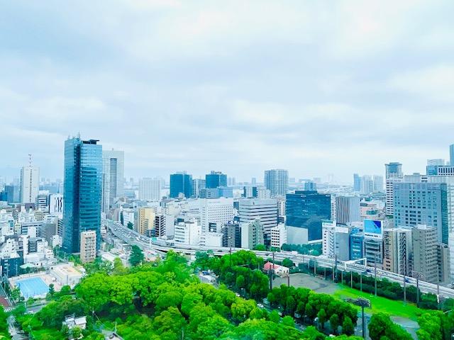「ザ・プリンスパークタワー東京」プリンススイートルームのテラスから見えた景色