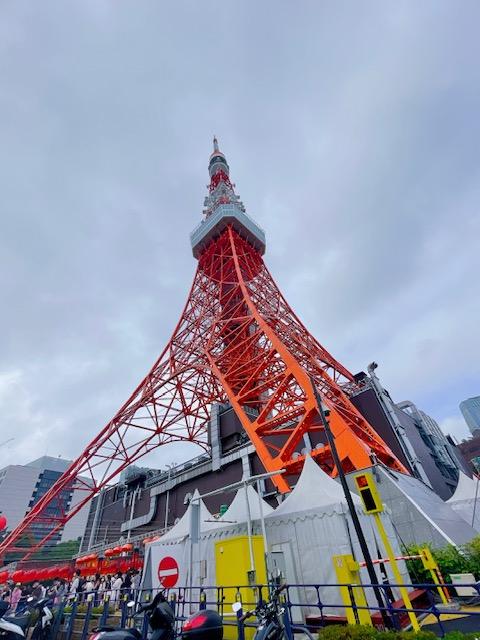 東京タワーと大盛況な台湾祭
