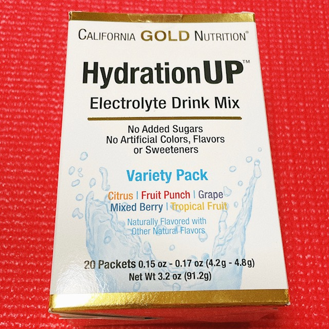 California Gold Nutrition, ハイドレーションアップ、電解質ドリンクミックス、バラエティーパック、20袋、各4.2 g