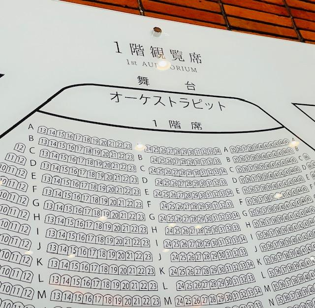 帝国劇場の座席表