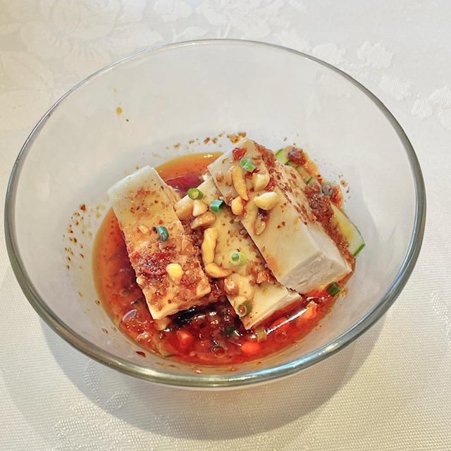 「四川豆花飯荘」一番美味しかった前菜のよだれ鶏