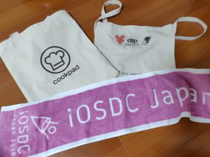 iosdc bag and towel