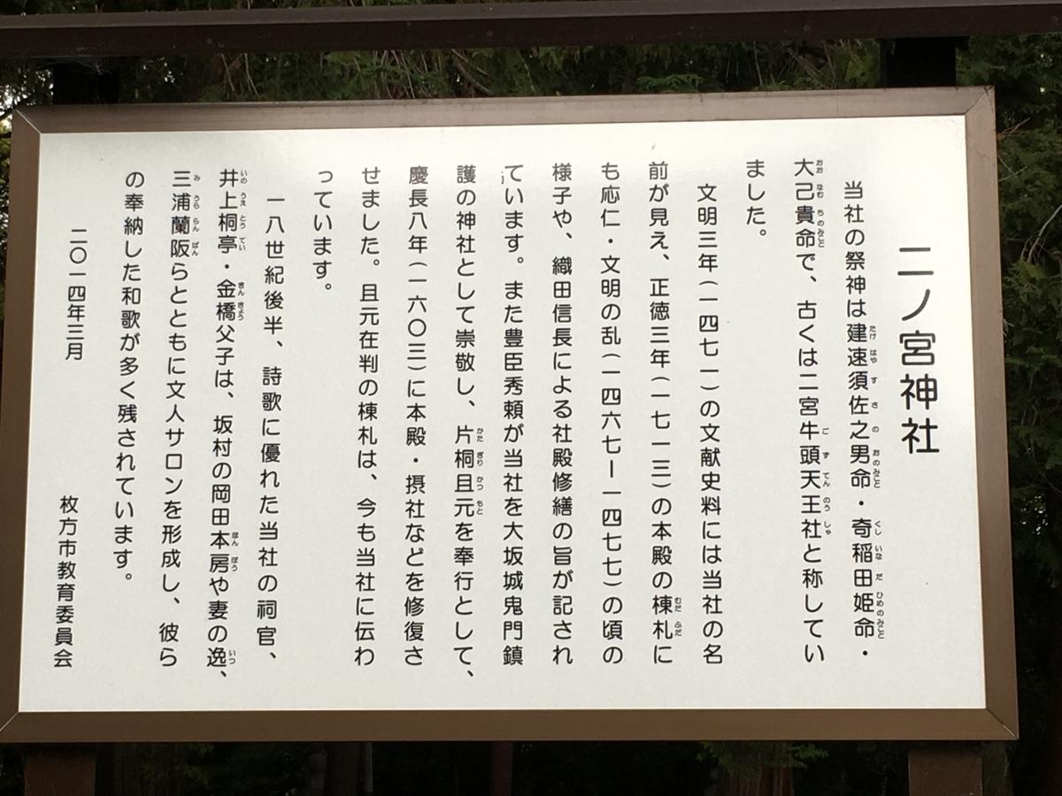 二ノ宮神社、枚方の神社・パワースポット