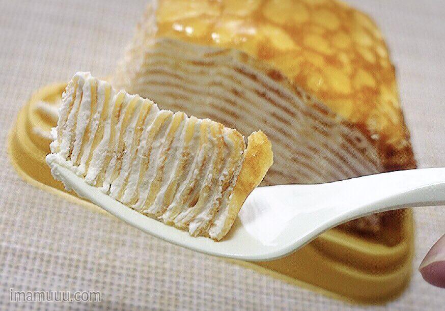 セブンイレブンの15層のミルクレープを食べるイマムラアユム