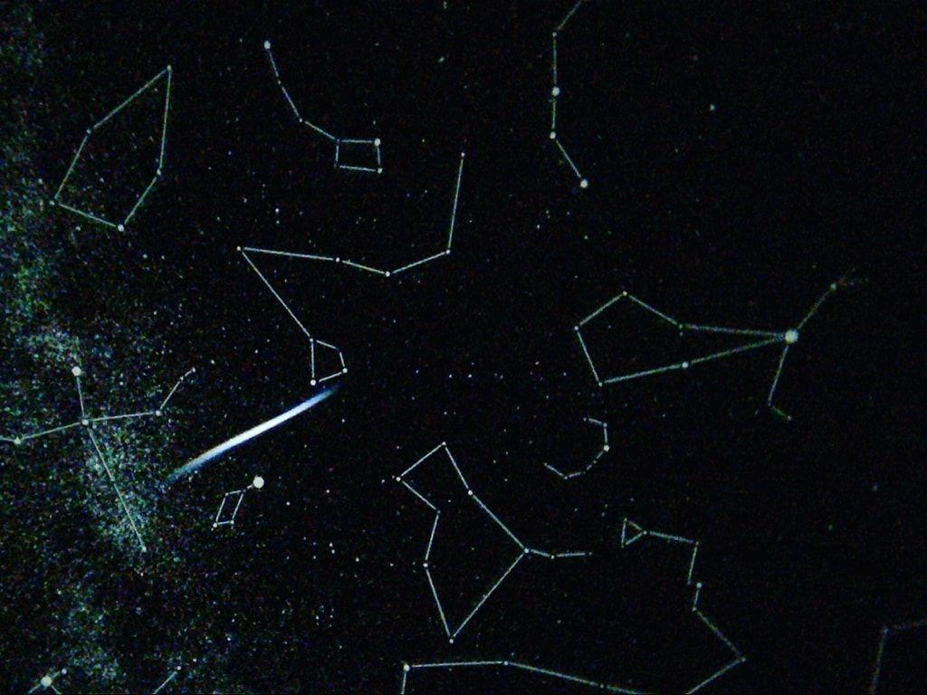 星座が見えるホームスタークラシックの原板