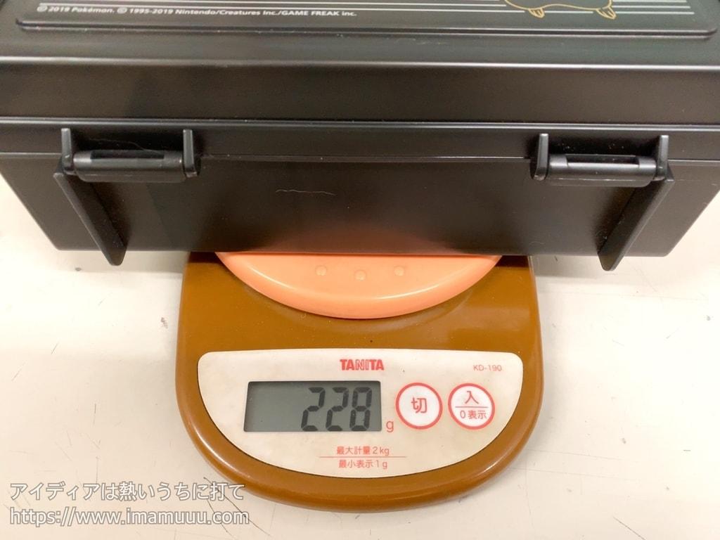 ハーフキャリングケースピカチュウの重さは228g