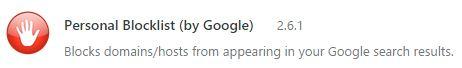 Personal Blocklist (by Google)