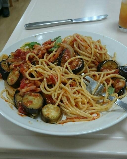 なすとトマトのスパゲリィ