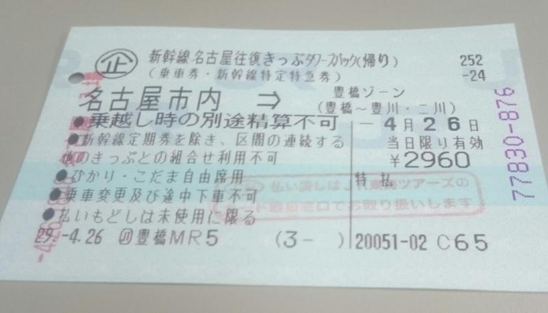 新幹線名古屋往復きっぷタワーズパック