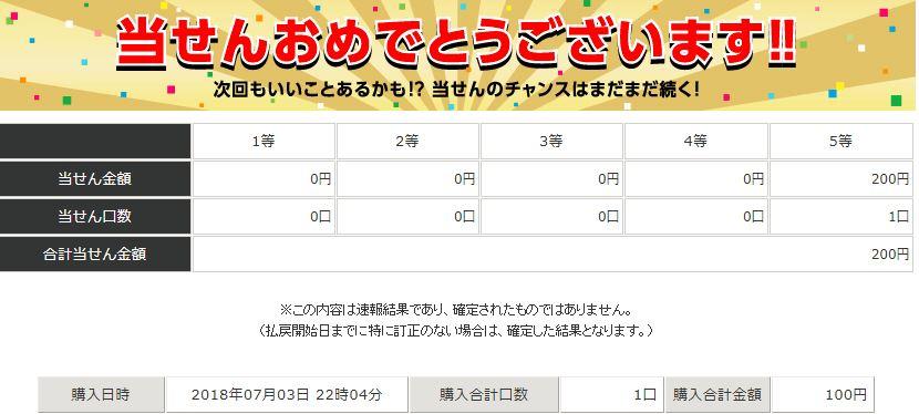 第1025回100円BIG当選