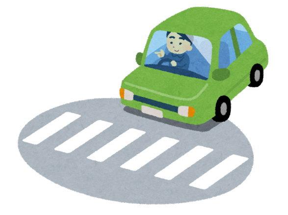信号のない横断歩道で止まる割合は、全国で8.6%しかない