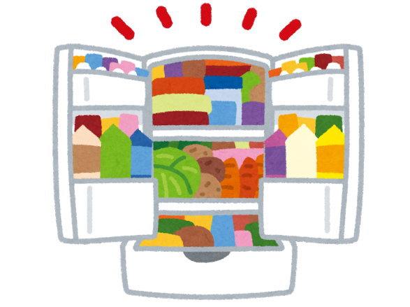 服や食品などのストックは損