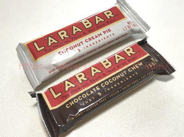 アイハーブで買ったララバー。ココナツクリームパイとチョコレートココナツチュウ