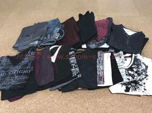こんなにたくさんの服(トップスとパンツ)を持っていましたΣ(・□・;)