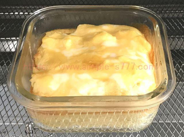 ダイソーの耐熱皿&オーブントースターで焼いた卵焼きです