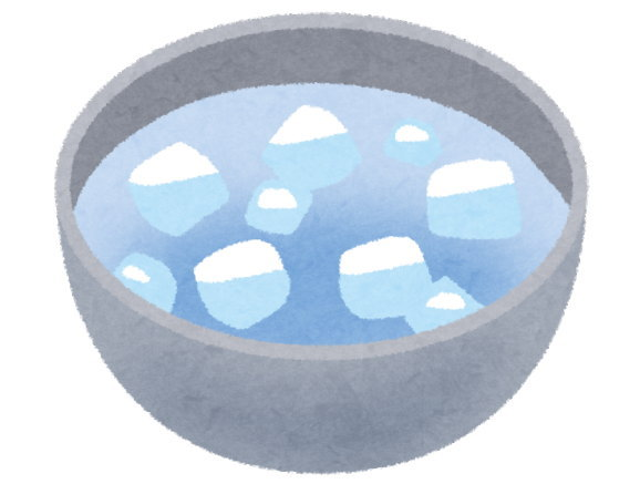 耐熱皿は、熱いときに急激に冷やすのはNG
