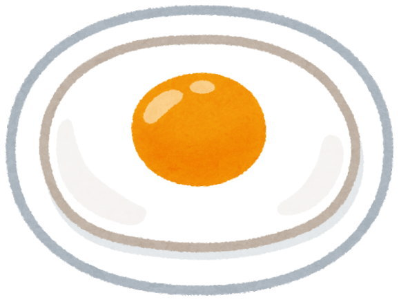 ダイソーの耐熱皿で目玉焼きや卵焼きを作るときは、油を塗るのがコツ