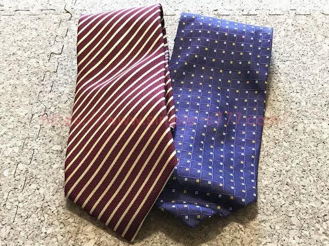 捨てたネクタイ。ほとんど使いませんでした。