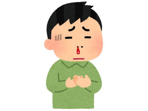 寝ていたら、急に痛みが!そして大量の鼻血が!