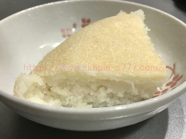 1回目に作った米粉パン。中が半生でした