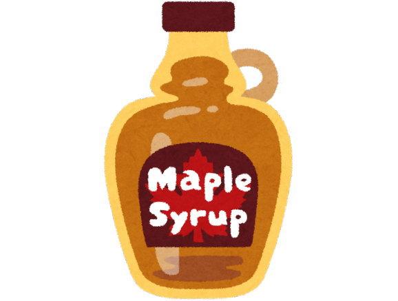 砂糖の代わりにメープルシロップを使っています