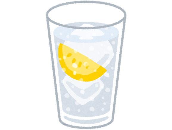 炭酸水の皮に水を使えば、はちみつレモンウォーターになります