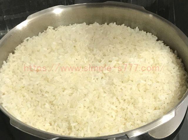 圧力鍋で炊いたご飯