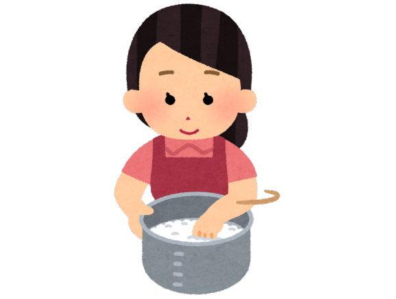 私は、お米は炊飯器で炊くと思っていました
