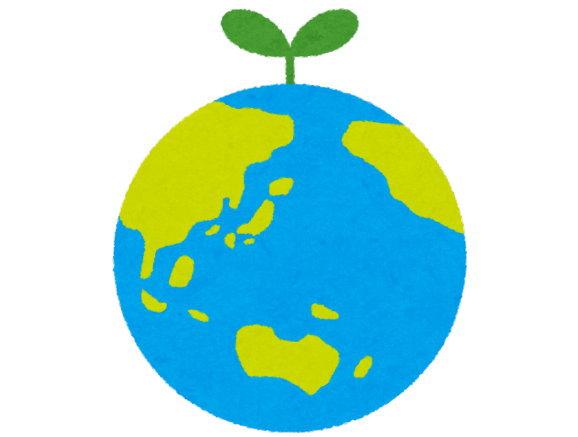地球は、どんどん緑(木や植物)が増えていっています