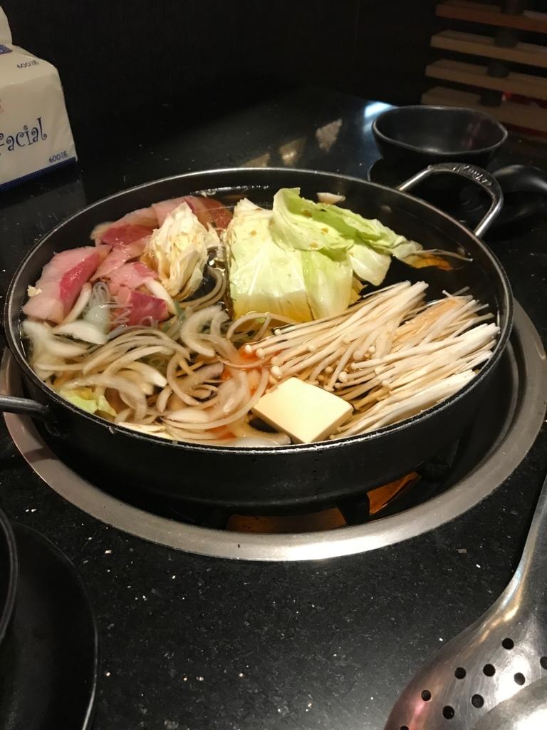 豚肉のすき焼きってあるのね。