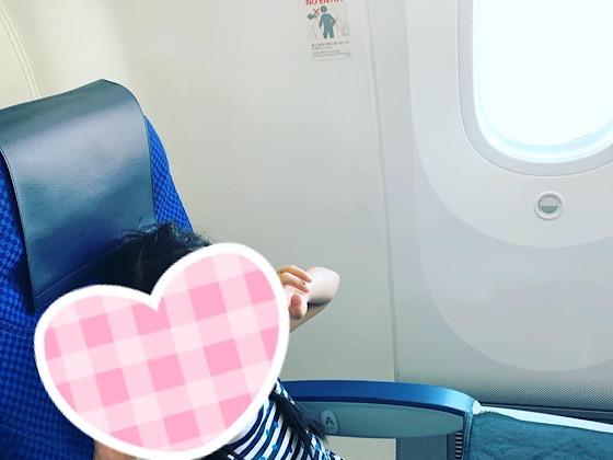 ANA飛行機内窓際の座席