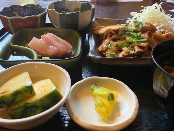 アグー豚の生姜焼き定食