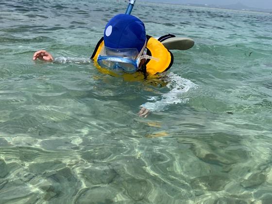 備瀬崎の海でシュノーケリング