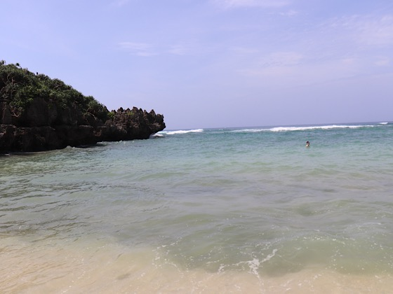とけい浜の海