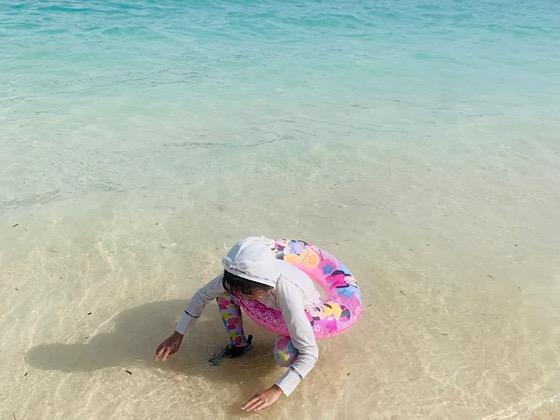 古宇利ビーチの砂浜と海