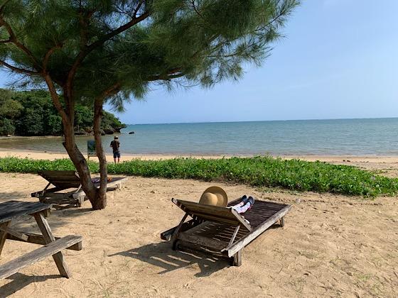 ペンションパパラギ王国プライベートビーチ砂浜