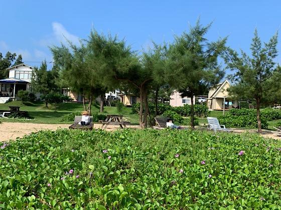 ペンションパパラギ王国プライベートビーチお庭