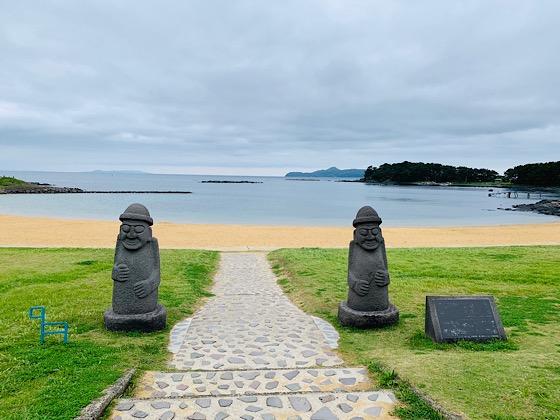 波戸岬の海沿い
