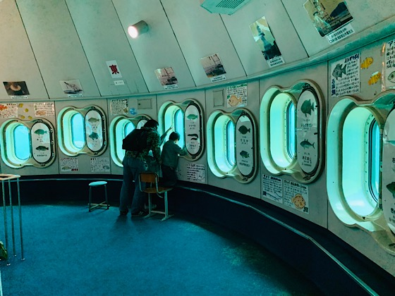 波戸岬玄海海中展望台室内