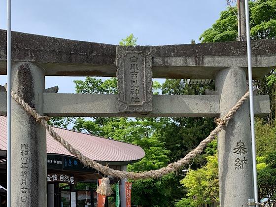 白川吉見神社鳥居