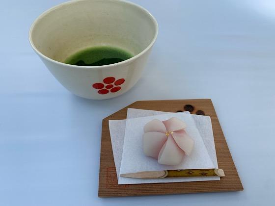 お抹茶と上生菓子