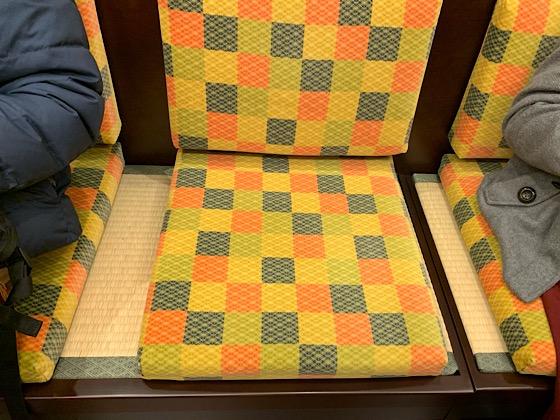 京とれいん座席